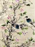 Product ID : 6304 - Category : Painting - Product Name : Vintage Chinese Original Water Ink Hand Painting Scroll The Flower and Bird