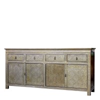 Product ID : 6911 - Category : Sideboard - Product Name : Silver Pattern Wooden Sideboard 4 Drawer 4 Door