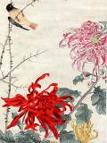 Product ID : 6292 - Category : Painting - Product Name : Vintage Chinese Original Water Ink Hand Painting Scroll The Flower and Bird