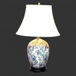 Product ID : 6939 - Category : Lighting - Product Name : Hand Painted Flower Pattern Ceramic Table Lamp