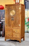 Product ID : 6596 - Category : Wardrobe - Product Name : Chinese Style Wooden Wardrobe with 4 Drawer and Brass Decor