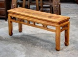 Product ID : 6643 - Category : Chair - Product Name : Vintage Chinese Style Wooden Long Bench