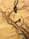 Product ID : 6333 - Category : Painting - Product Name : Vintage Chinese Original Water Ink Hand Painting Scroll The Flower and Bird