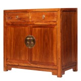 Product ID : 7034 - Category : Sideboard - Product Name : Oriental Chinese Light Brown Finished Wooden Sideboard with 2 Drawers and 2 Doos