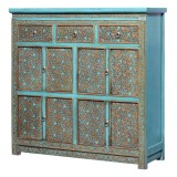 Product ID : 7094 - Category : Sideboard-Long - Product Name : Tibetan Style Lacquer Painted Sideboard with 3 Drawers 8 Doors
