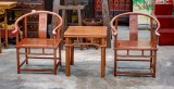 Product ID : 6562 - Category : Chair - Product Name : Chinese Rosewood Ming Style Small Round Chair Set with Tea Table