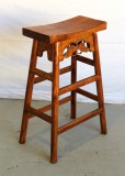 Product ID : 6445 - Category : Chair - Product Name : Wooden Bar Stool with Butterfly Carving