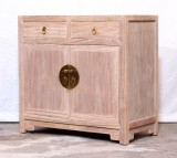 Product ID : 7032 - Category : Sideboard - Product Name : Oriental Chinese Style Raw Finished Wooden Sideboard with 2 Drawers and 2 Doos