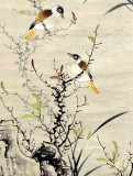 Product ID : 6303 - Category : Painting - Product Name : Vintage Chinese Original Water Ink Hand Painting Scroll The Flower and Bird