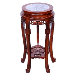 Product ID : 6078 - Category : Console Table - Product Name : Chinese Style Wooden High Pot Stand with Stone Top 5 Legs