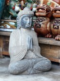 Product ID : 6786 - Category : Other Decor - Product Name : Oriental Outdoor Solid Stone Carved Garden Buddha Statue