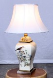 Product ID : 6931 - Category : Lighting - Product Name : Ceramic Table Lamp with Flower and Bird Pattern