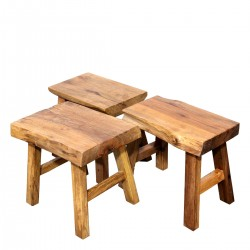 Product ID : 6975 - Category : Chair - Product Name : Original Ecology Natural Timber 4 Legs Stool