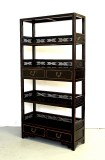 Product ID : 6069 - Category : Shelf - Product Name : Black Lacquer Bookshelf with 4 Drawer