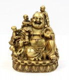 Product ID : 6408 - Category : Other Decor - Product Name : Brass Laughing Buddha with Five Children Figure 黃銅五子彌勒佛像