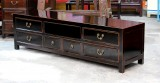 Product ID : 6697 - Category : TV Cabinet - Product Name : Black Lacquer 6 Drawer TV Cabinet