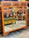 Product ID : 6728 - Category : Wall Decor - Product Name : Antique Southeast Aisa Style Wood Carving Wall Mirror