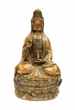 Product ID : 6418 - Category : Other Decor - Product Name : Brass Guan Yin Figure 黃銅觀音像