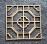 Product ID : 6636 - Category : Wall Decor - Product Name : Square Shape Chinese Begonia Pattern Lattice Wall Panel