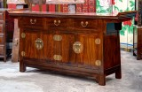Product ID : 6755 - Category : Sideboard - Product Name : Chinese Elm Wood Altar Style Long Sideboard with 3 Drawer and 4 Door
