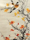 Product ID : 6302 - Category : Painting - Product Name : Vintage Chinese Original Water Ink Hand Painting Scroll The Flower and Bird