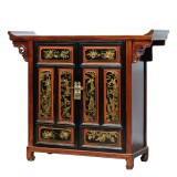 Product ID : 7082 - Category : Sideboard - Product Name : Chinese Altar Style Black and Red Gold Painted Sideboard