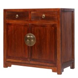 Product ID : 7033 - Category : Sideboard - Product Name : Oriental Chinese Style Dark Brown Finished Wooden Sideboard with 2 Drawers and 2 Doos