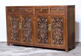 Product ID : 7005 - Category : Sideboard-Long - Product Name : Chinese Wood Carving Sideboard with 4 Drawers and 4 Doors