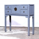 Product ID : 6965 - Category : Console Table - Product Name : Chinese Style Gray Lacquer Painted Small Console Table
