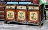Product ID : 6806 - Category : Sideboard - Product Name : Vintage Chinese Lacquer Painted Sideboard with 3 Drawers and 3 Doors