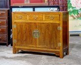 Product ID : 6842 - Category : Sideboard - Product Name : Chinese Style Wooden 3 Drawer 2 Door Sideboard