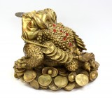 Product ID : 6406 - Category : Other Decor - Product Name : Brass Money Toad 黃銅七星金錢蟾蜍