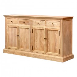 Product ID : 6699 - Category : Sideboard-Long - Product Name : Elm Wood Country Style Sideboard with 4 Drawer and 4 Door