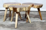 Product ID : 6974 - Category : Chair - Product Name : Original Ecology Natural Timber 3 Legs Stool