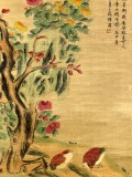 Product ID : 6361 - Category : Painting - Product Name : Vintage Chinese Original Water Ink Hand Painting Scroll The Flower and Bird