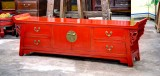 Product ID : 6590 - Category : TV Cabinet - Product Name : Red Lacquer Chinese Altar Style TV Cabinet