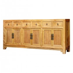 Product ID : 6909 - Category : Sideboard - Product Name : Chinese Style Wooden 6 Drawers and 6 Doors Long Buffet Sideboard