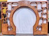 Product ID : 7069 - Category : Shelf - Product Name : Rosewood Chinese Round Door Curio Shelf