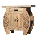 Product ID : 7105 - Category : Sideboard-Short - Product Name : Wooden Sideboard with Wood Carving Flowers Pattern