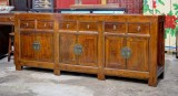 Product ID : 6821 - Category : Sideboard - Product Name : Vintage Chinese Style Weathered Wood Sideboard with 6 Drawer 6 Door