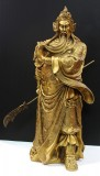 Product ID : 6270 - Category : Other Decor - Product Name : Large Brass Guan Gong Figure 大黃銅關公像