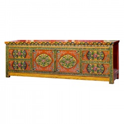 Product ID : 6890 - Category : TV Cabinet - Product Name : Tibetan Style Lacquer Painted TV Cabinet with 4 Drawer and 2 Door