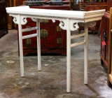 Product ID : 6469 - Category : Console Table - Product Name : Chinese Style White Lacquer Altar Console Table