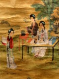 Product ID : 6338 - Category : Painting - Product Name : Vintage Chinese Original Water Ink Hand Painting Scroll The Lady