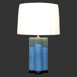 Product ID : 6950 - Category : Lighting - Product Name : Blue Ceramic Table Lamp