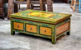 Product ID : 6493 - Category : Coffee Table - Product Name : Tibetan Style Lacquer Painted Coffee Table with 6 Drawer