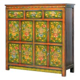 Product ID : 7081 - Category : Sideboard - Product Name : Tibetan Style Lacquer Painted Sideboard with 3 Drawers 8 Doors