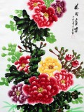 Product ID : 6345 - Category : Painting - Product Name : Chinese Water Ink Painting Scroll The Flower