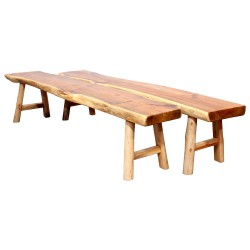 Product ID : 7030 - Category : Chair - Product Name : Original Ecology Natural Timber Style Long Sitting Bench