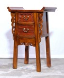 Product ID : 7018 - Category : Small Cabinet - Product Name : Chinese Altar Style Light Brown Small Site Table with 2 Drawers